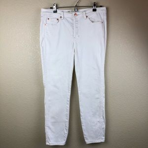 Free People White Skinny Jeans Size 30 Button Fly